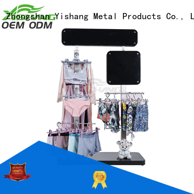 shop clothing display rackswith mixed material for shopping mall