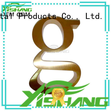 YISHANG metal letters for wall supplier for shop
