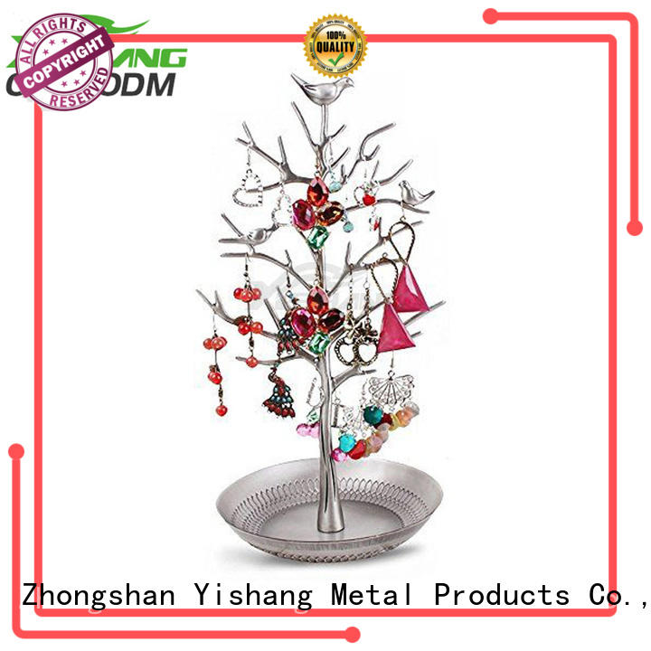 display Custom metal jewelry display earring YISHANG
