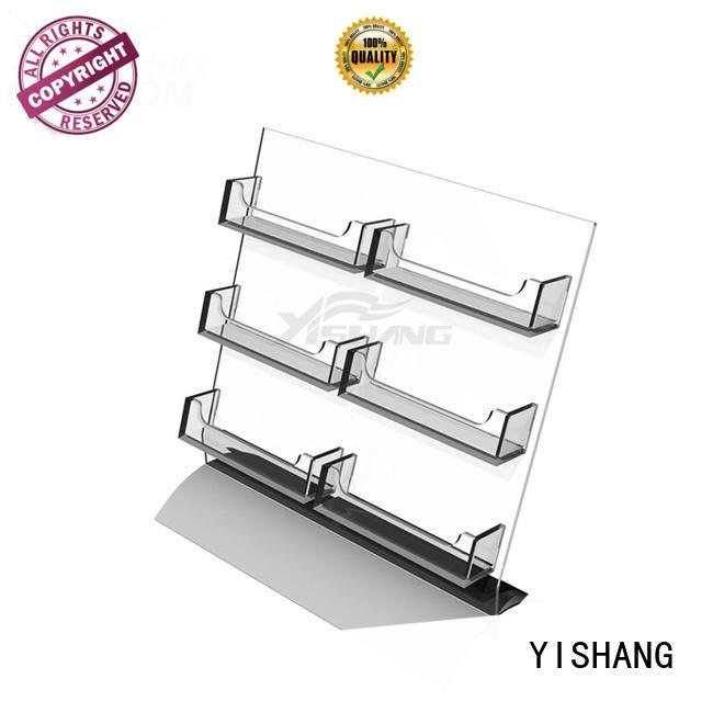 card display rack 6pocket card holder YISHANG Brand greeting card display