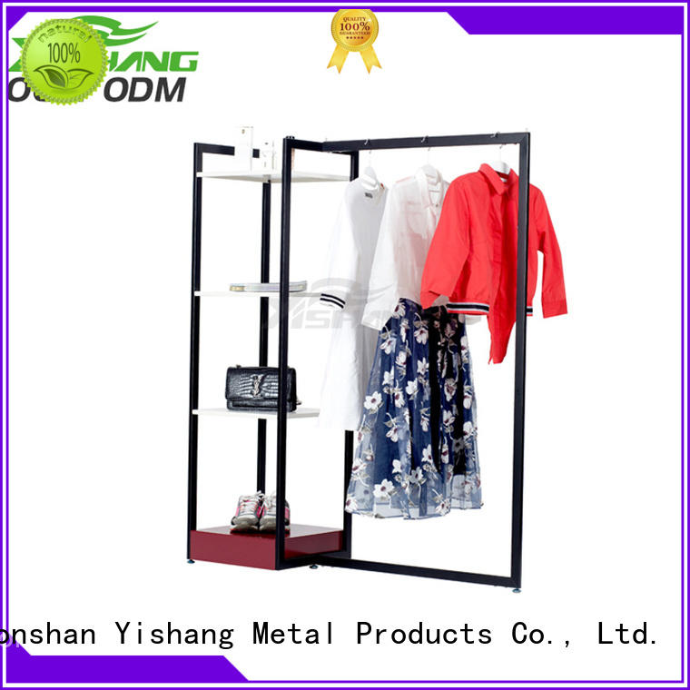 Custom stand mixed clothing racks for sale YSIHANG ys100012