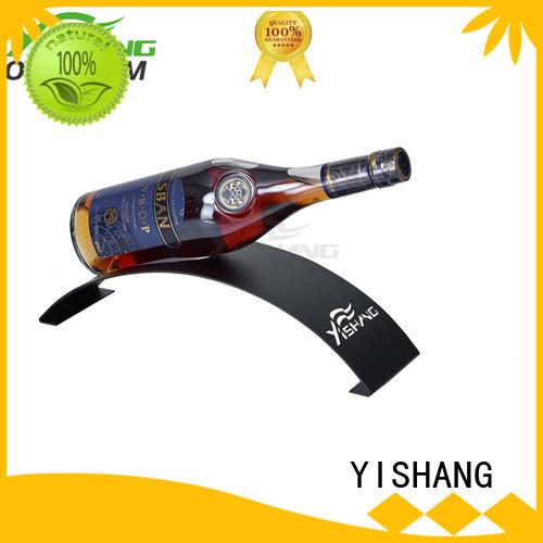 countertop Custom bottle powder wine racks for sale YISHANG display