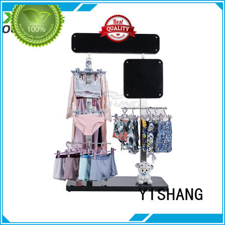 YISHANG retail clothing racks with mixed material for supermarket