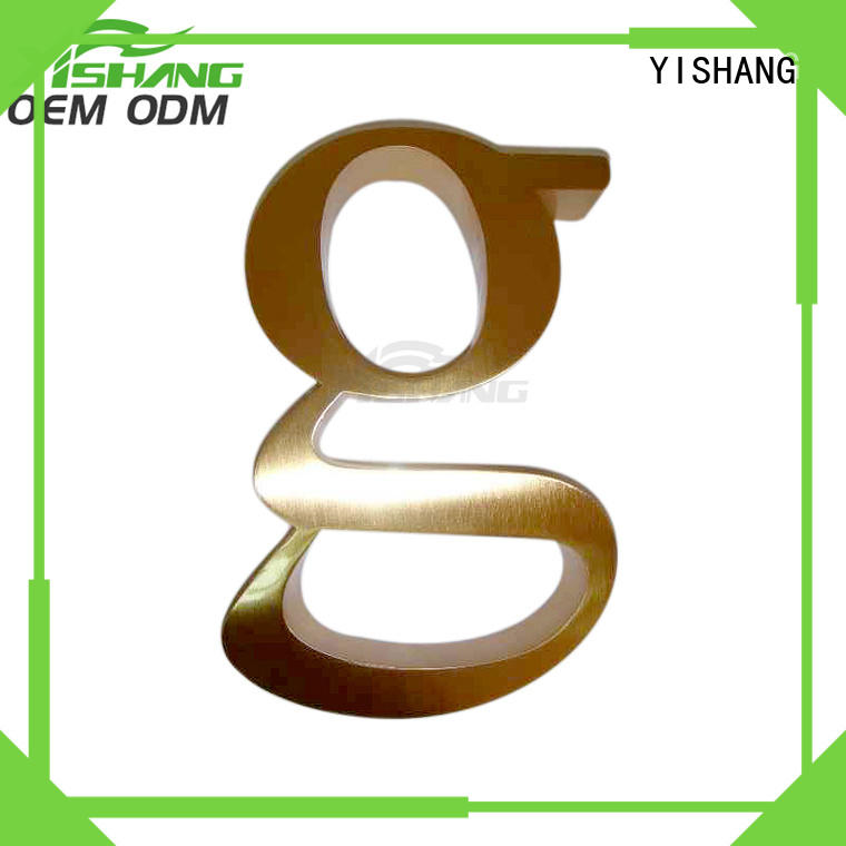 stainless metal letters for wall supplier for shop
