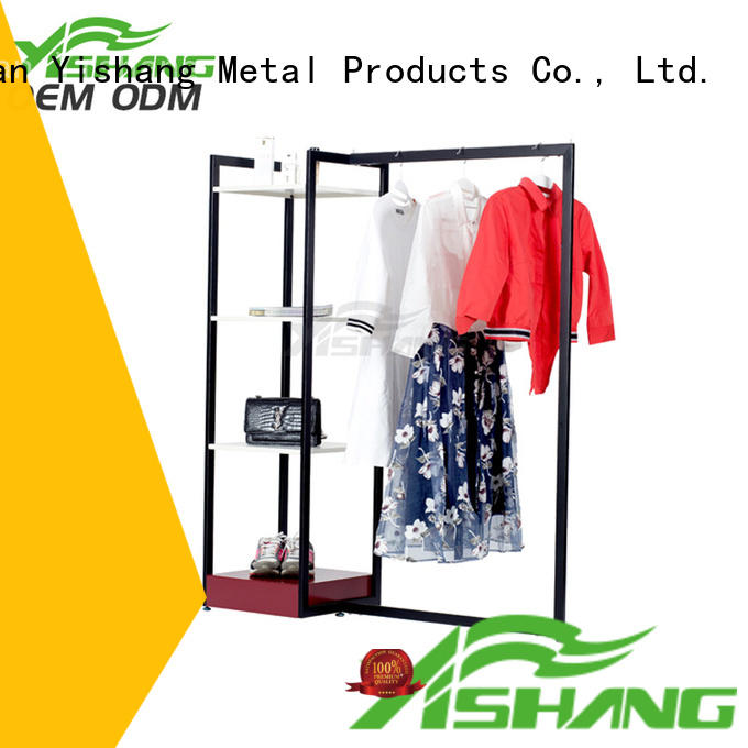stand mixed metal garment rack YISHANG manufacture
