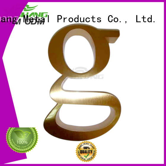 steel stainless metal letters numbers YISHANG