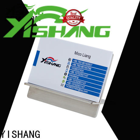YISHANG name greeting card display pocket for work