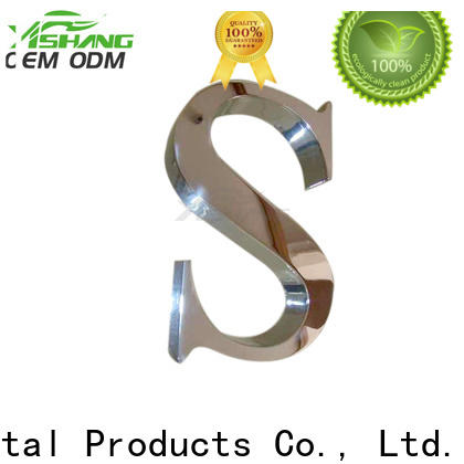stainless large metal letters manufacturer for advertising