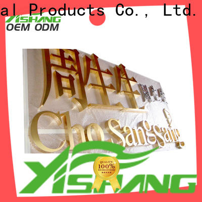 YISHANG numbers metal letters for wall online for store