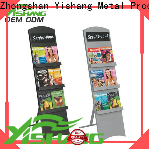 YISHANG book display shelf with wheels for book store