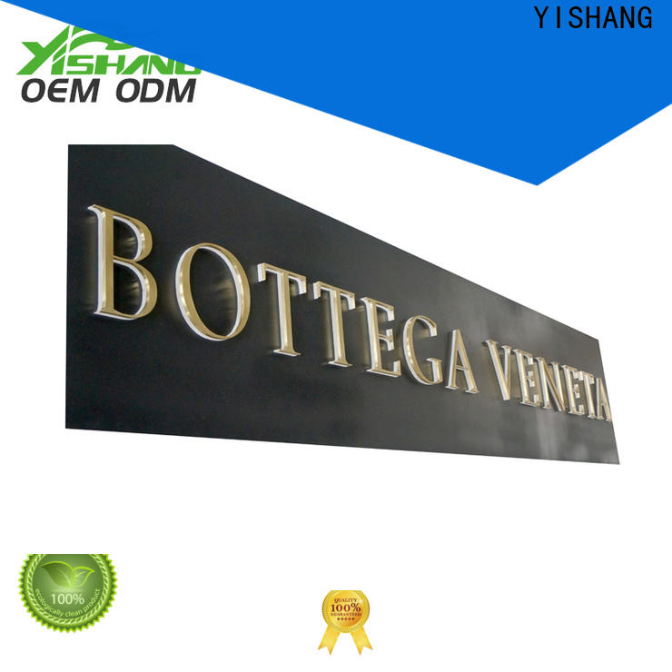 YISHANG steel large metal letters supplier for store