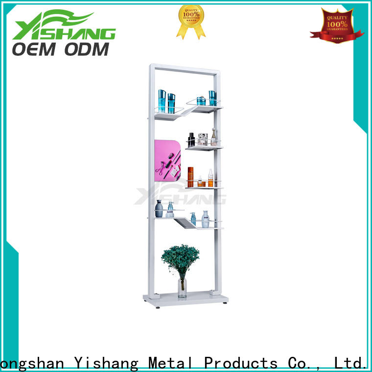 metal makeup stand shelves for cosmetic stores