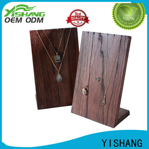 YISHANG wood jewelry display stands long for shops