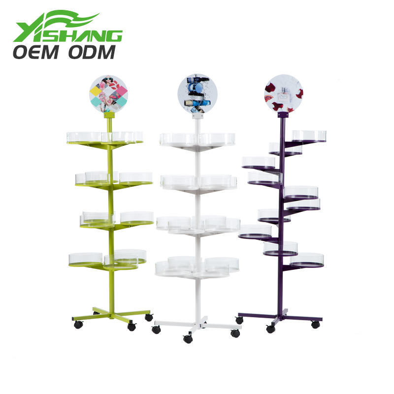 Custom Rotating Metal Cookies and Candy Display Rack for Store