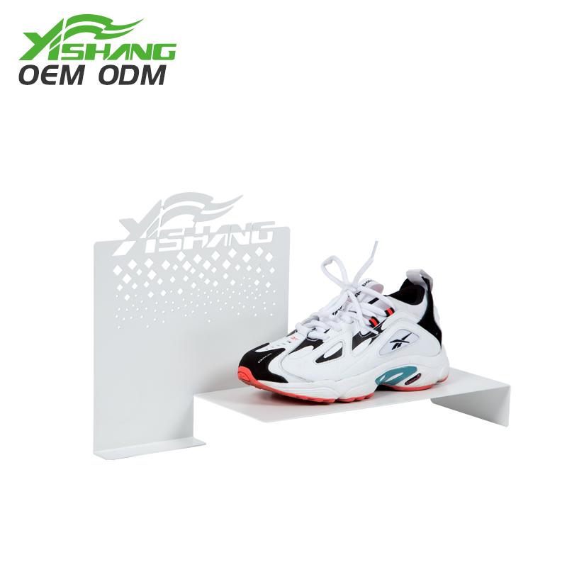 YISHANG  Custom Creative Countertop Metal Shoe Display Ideas Shoe Display image18