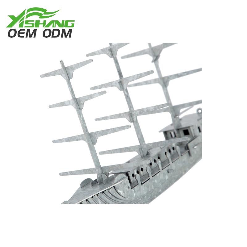 YISHANG -Diy Galvanized Metal Pirate Ship Decor Supplier On Yishang-1