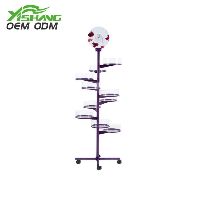 YISHANG  China Suppliers Wholesale Floor Cosmetic Display Stands Makeup Display image4