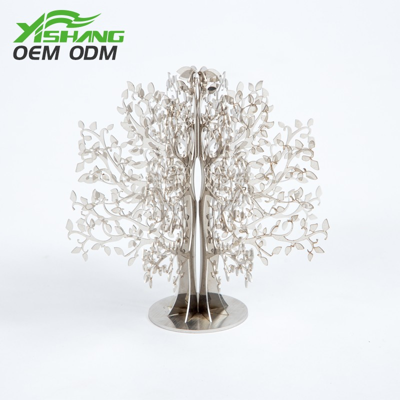 YISHANG -Professional Custom Tabletop Metal Ornament Tree Decor Supplier