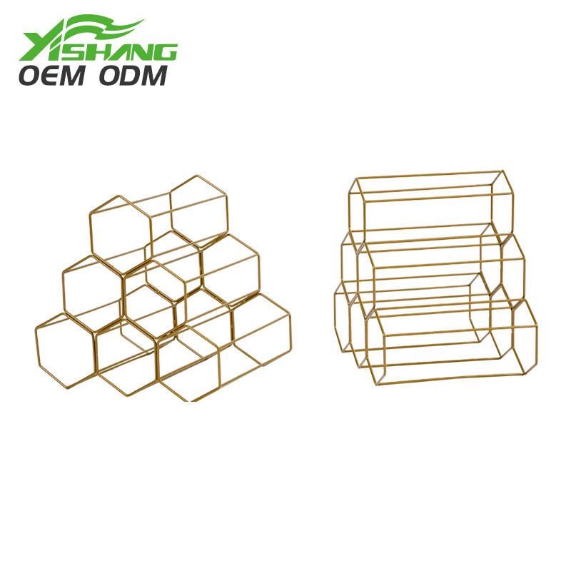 Custom Countertop Standing Metal Wire Wine Rack