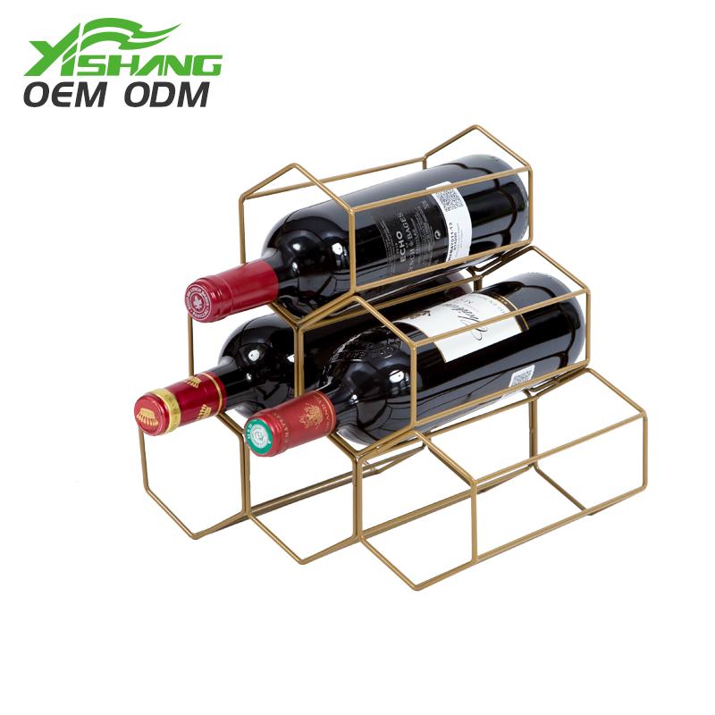 YISHANG -Countertop Standing Metal Wire Wine Rack | Card Display