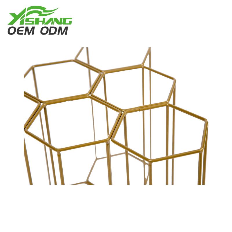 YISHANG -Countertop Standing Metal Wire Wine Rack | Card Display-1