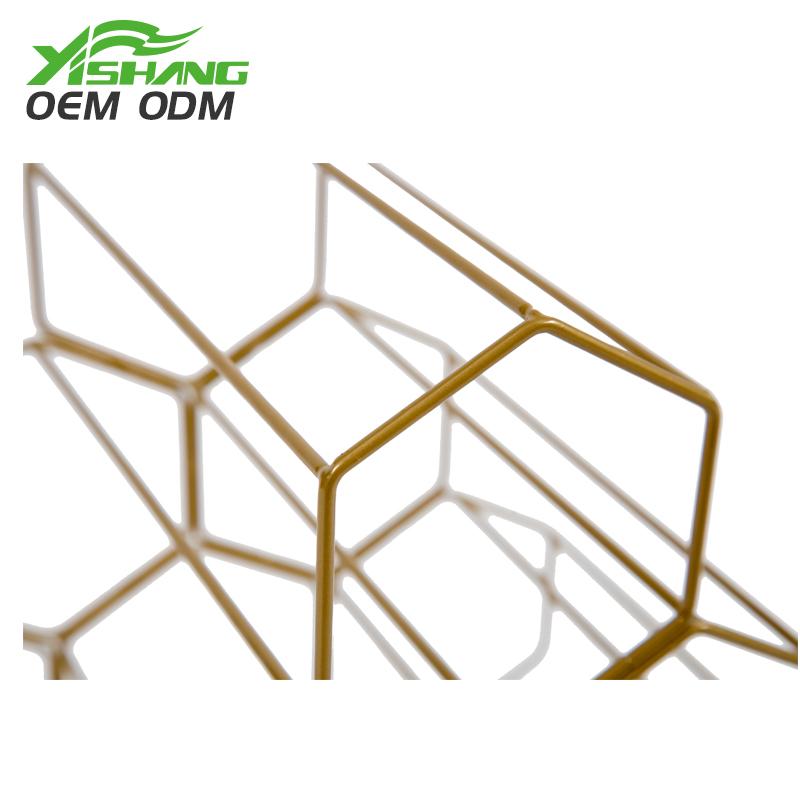 YISHANG -Countertop Standing Metal Wire Wine Rack | Card Display-2