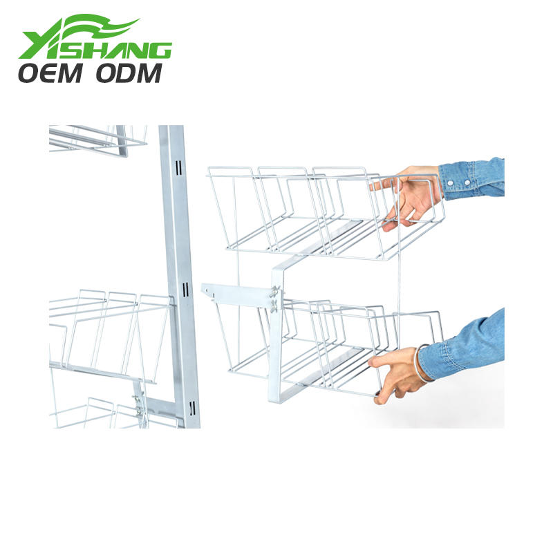 Custom Promotion Metal Wire Basket Display Rack for Stores