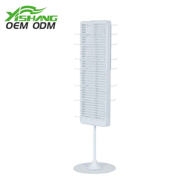 stand free standing metal rotating display stand YISHANG
