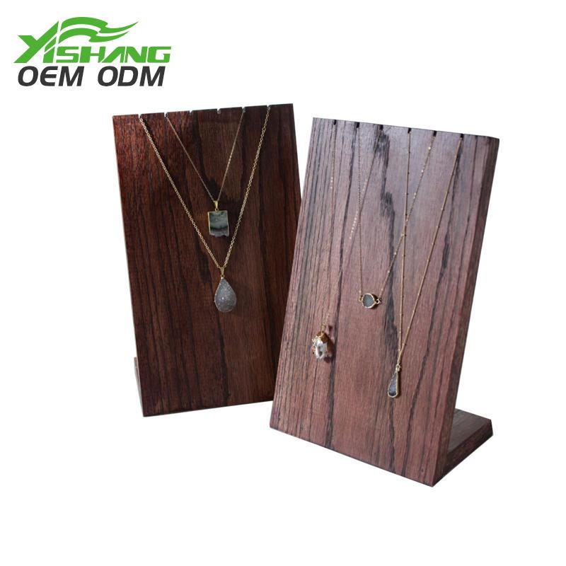 Custom Wooden Long Jewelry Necklace Display Rack