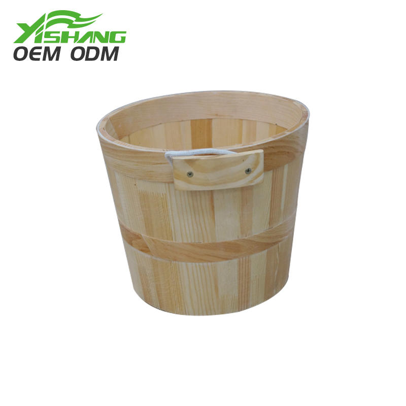 Custom Rotating Wooden Display Stand With Baskets