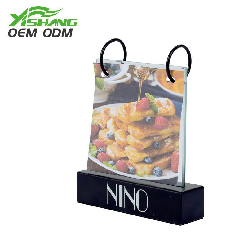 Custom Table Menu Holders Display Stand for Restuarant