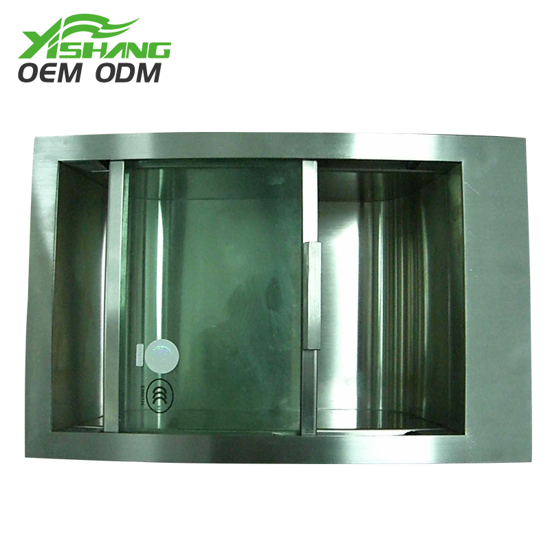 YISHANG -Custom Stainless Steel Box Fabrication With Glass Lid