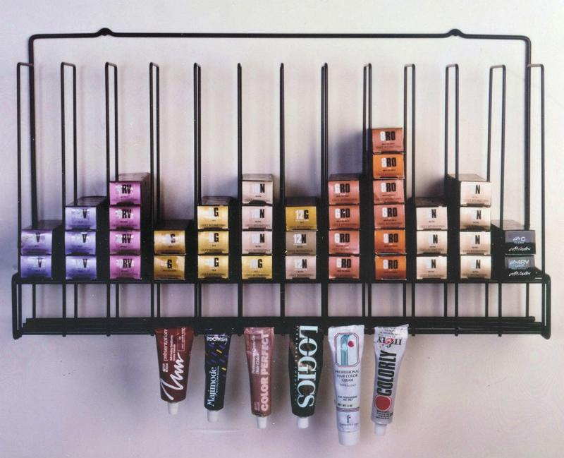 Custom Metal Hair Dye Display Rack for Australia Customer