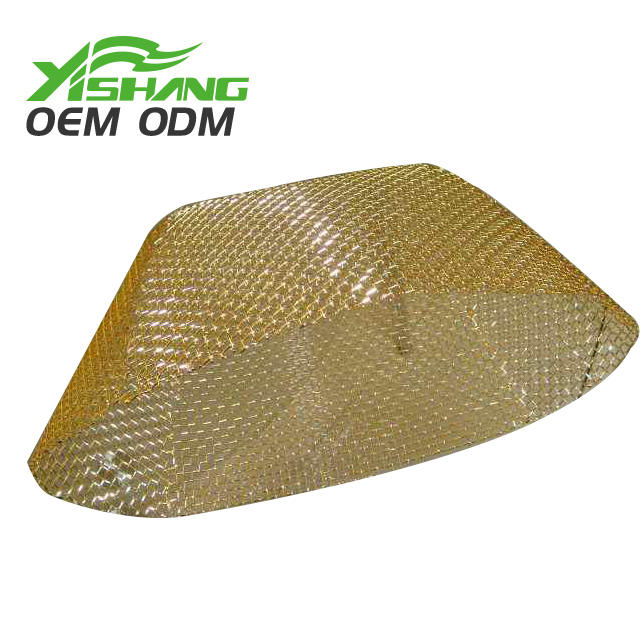 Custom Metal Fabrication Gold Metal Wire Light Cover