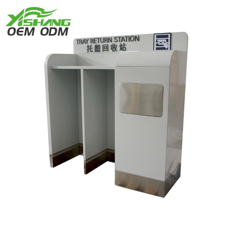 Custom Airport Metal Tableware Recycling Cart Bin