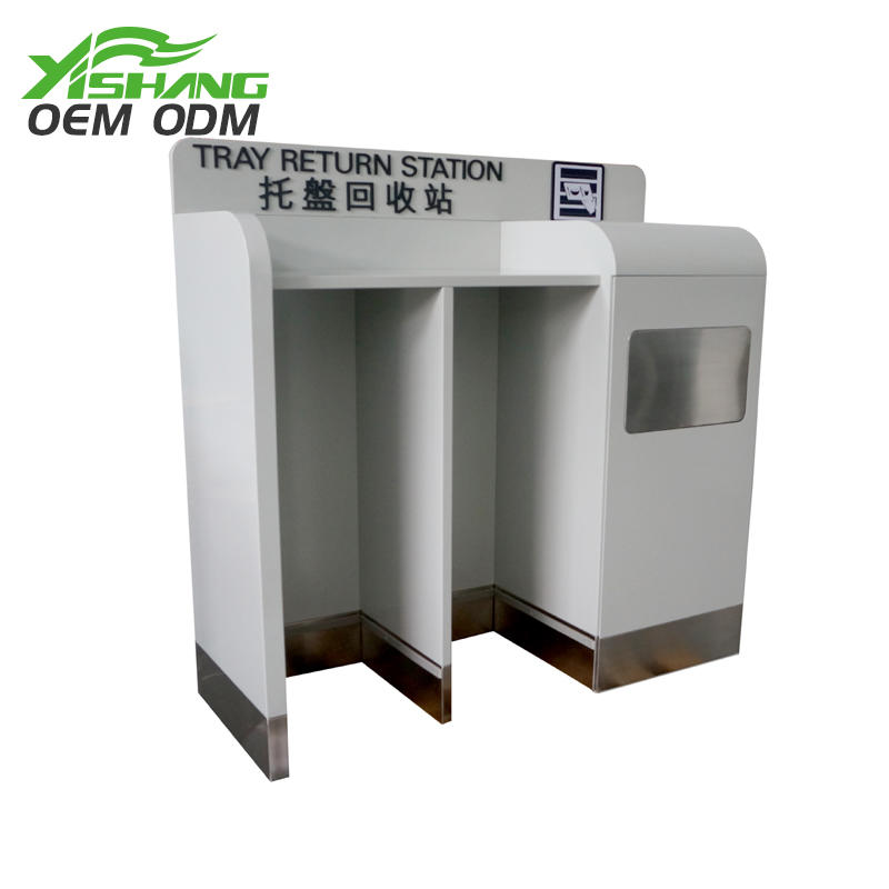 Custom Airport Metal Tableware Recycling Cart Bin