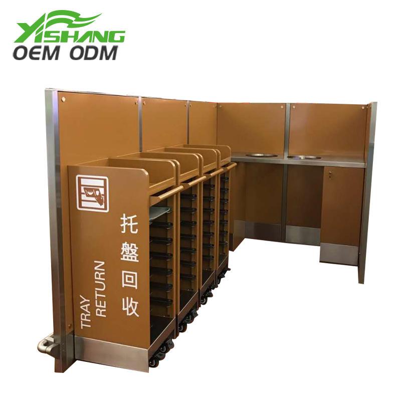 Custom Metal Tableware and Food Recycle Bin Station