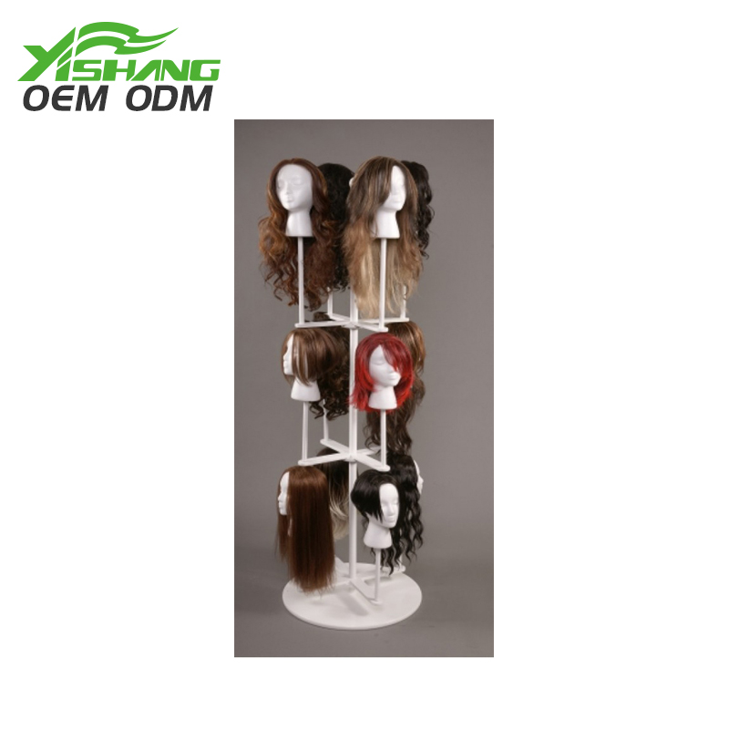 YISHANG -Retail Display, Custom Rotating Metal Wig Display Stand For Salon