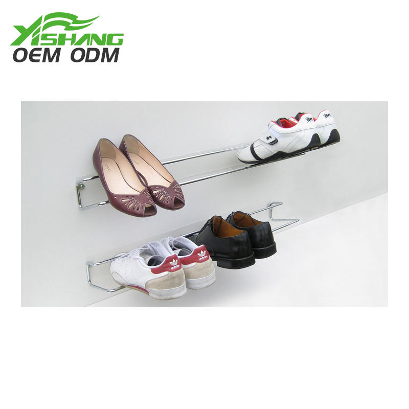 Custom Creative Space Saving Wall Mounted Metal Shoe Rack