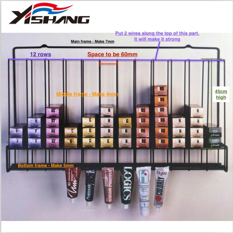 YISHANG -Necklace Display Stand Custom Metal Hair Dye Display Rack