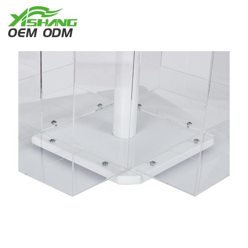 Custom Metal and Acrylic Rotating Display Racks for Retail Stores