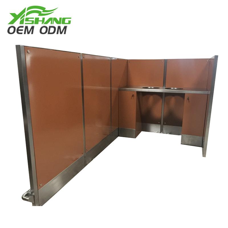 YISHANG -Custom Metal Tableware And Food Recycle Bin Station on Yishang