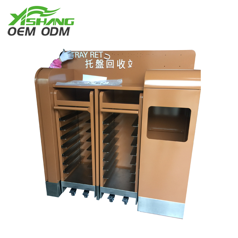 YISHANG -Custom Metal Tableware And Food Recycle Bin Station on Yishang-1
