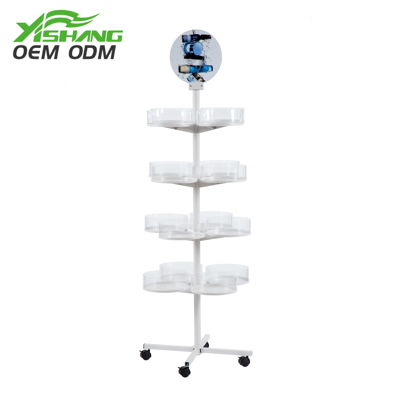YISHANG -Rotating Candy Cookies Metal Display Rack For Store