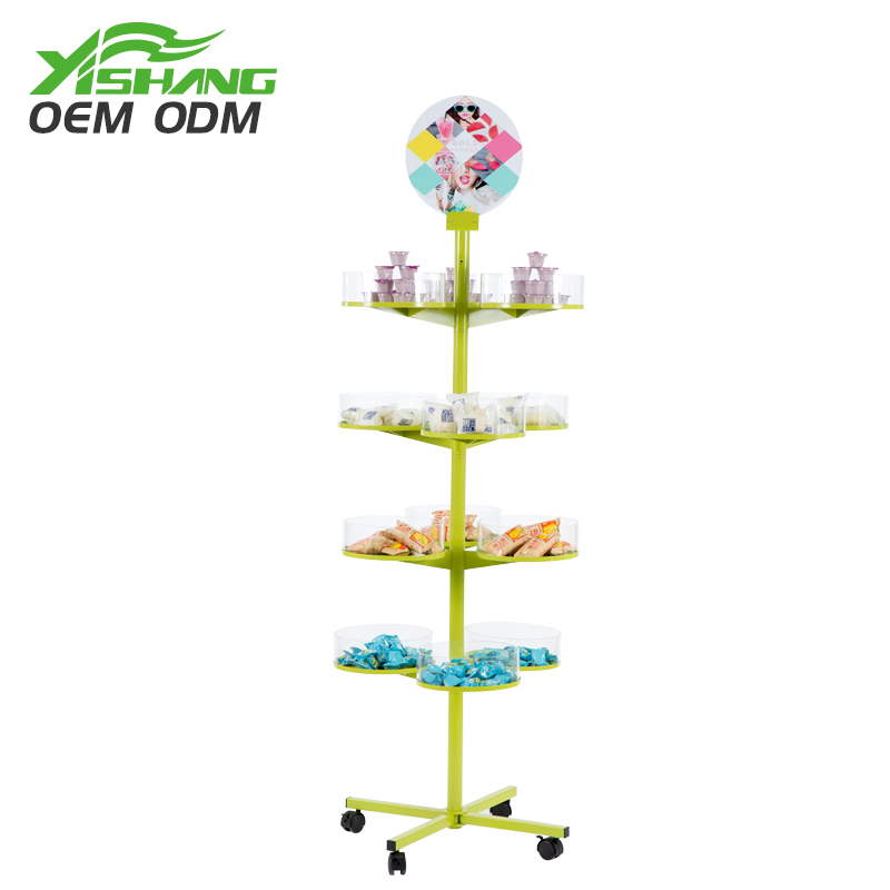 YISHANG -Rotating Candy Cookies Metal Display Rack For Store-1