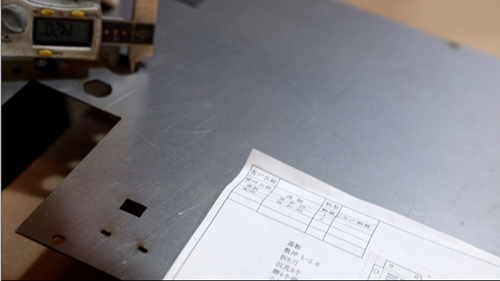 Sheet Metal Fabrication - Size Inspection  After Laser Cutting Metal Plate
