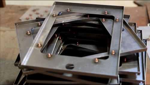 Sheet Metal Fabrication - Welding Stud on Metal Plate-YISHANG