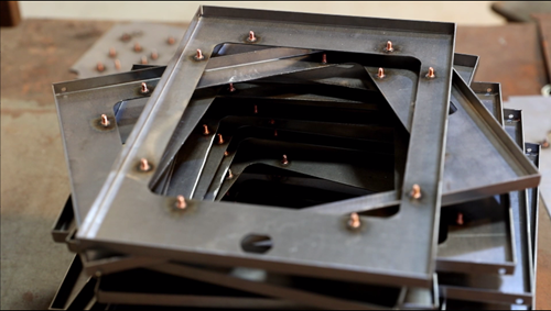 Sheet Metal Fabrication - Welding Stud on Metal Plate