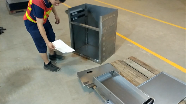 Metal Tool Cabinet - Installation Before Surface Treatment