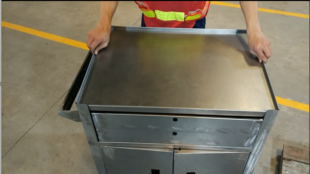 Metal Tool Chest - Installation Before Surface Treatment